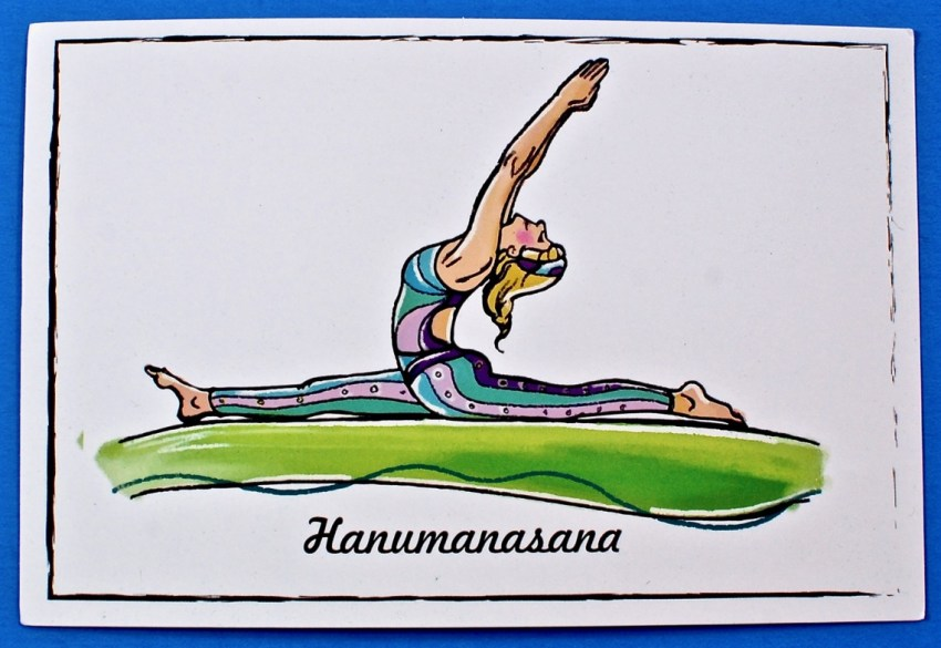 yoga pose card