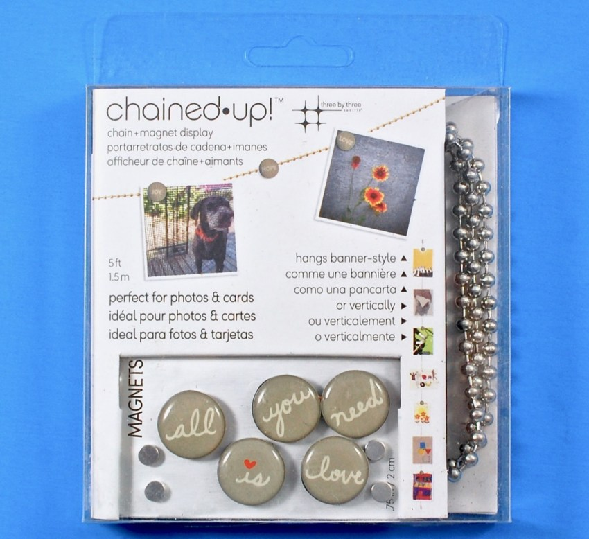 Chained up photo magnet display
