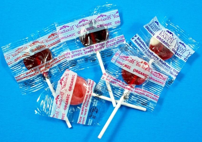 Yum Earth lollipops