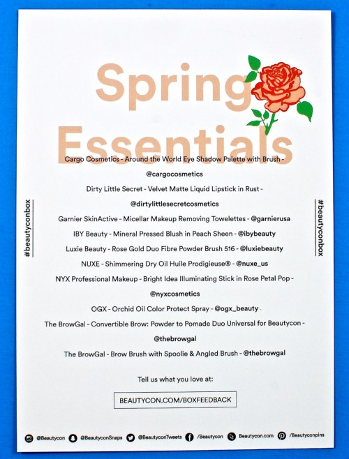 Beautycon Spring Essentials box