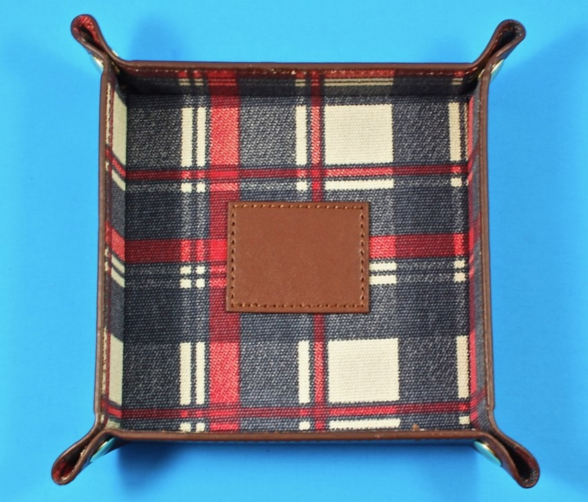 plaid accessory tray