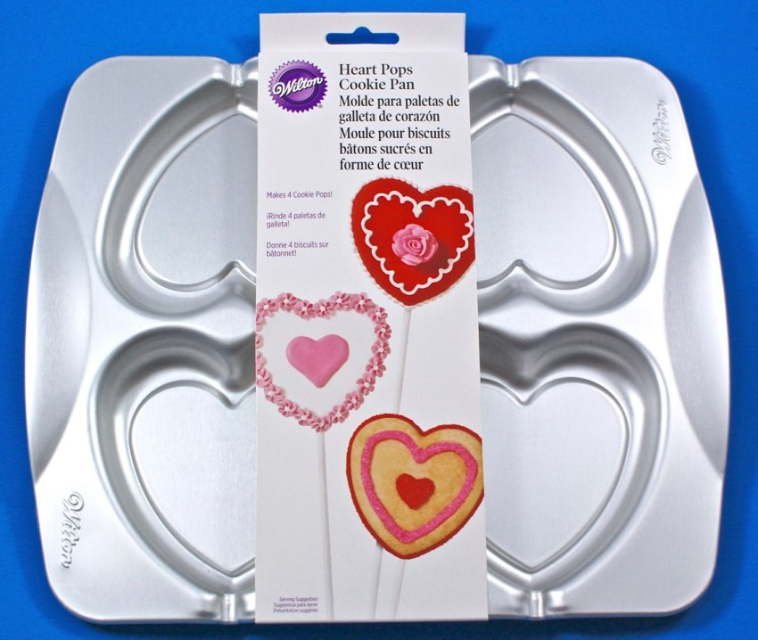 WIlton heart cookie pop pan