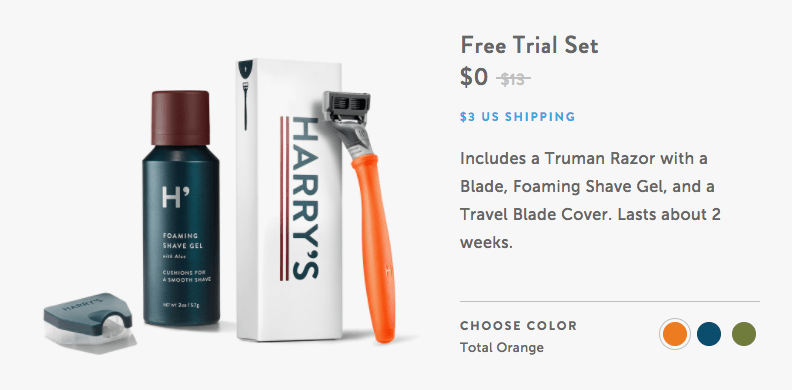 harry's free trial