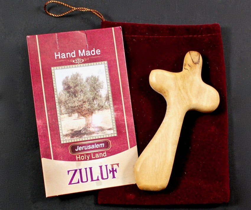 Zuluf's olive wood cross