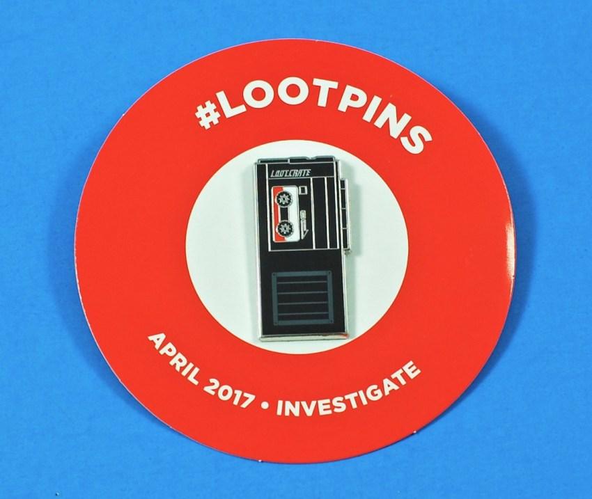 Loot Crate April 2017 pin