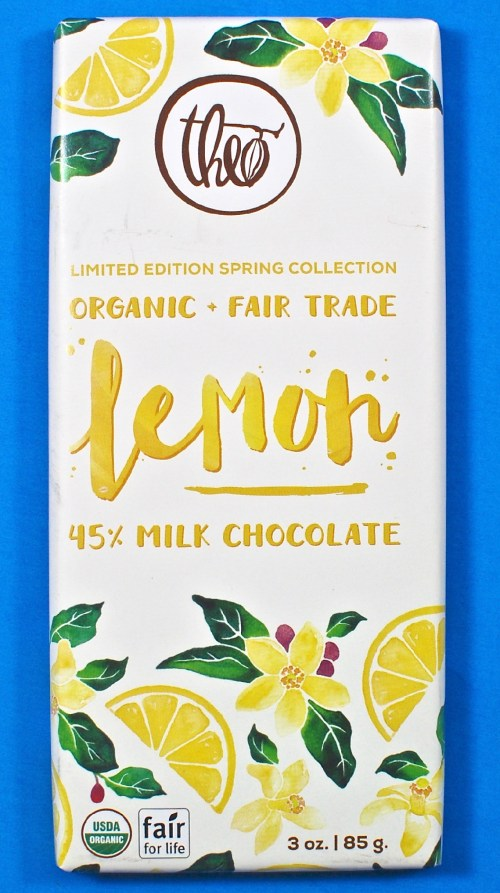 Theo lemon chocolate bar