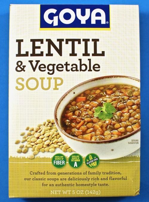 Goya lentil soup