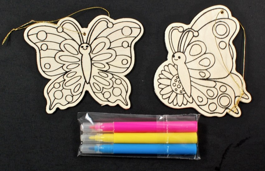 wooden butterfly craft