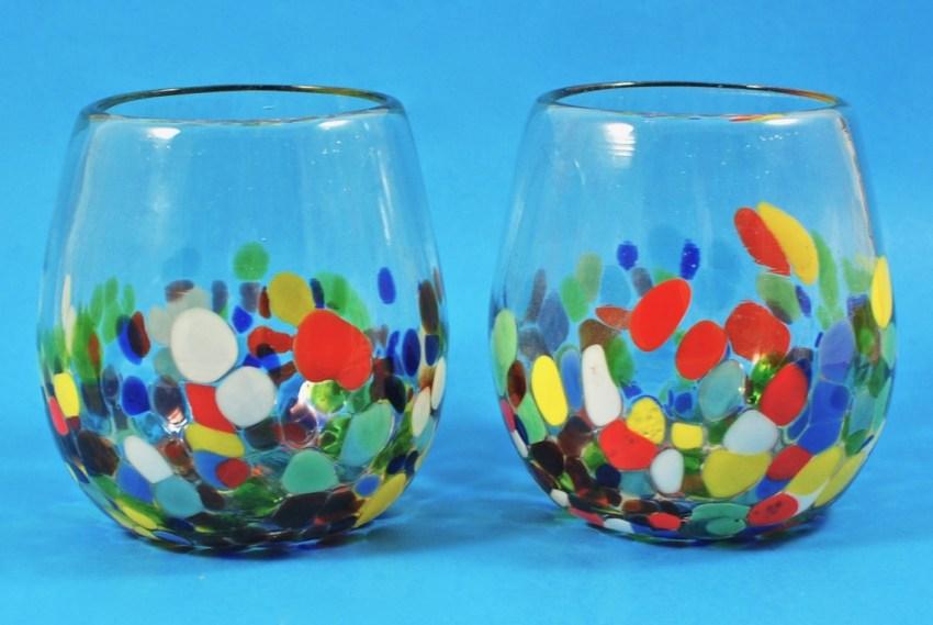 GlobeIn stemless wine glasses