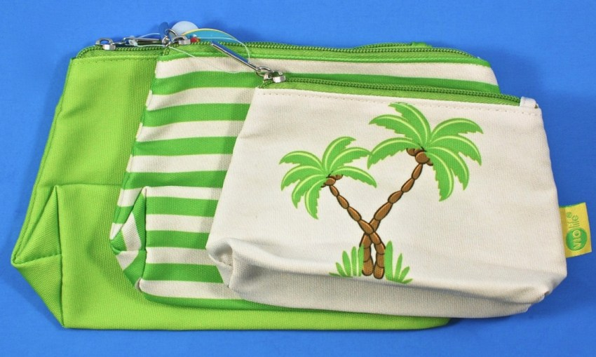 cosmetic bags palm trees