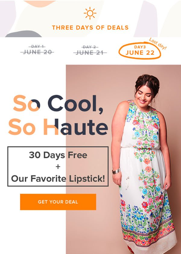 Gwynnie Bee FREE Month + FREE Lipstick – Today Only!