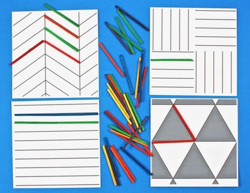 matchstick pattern cards