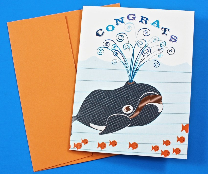 Whale, Congrats card