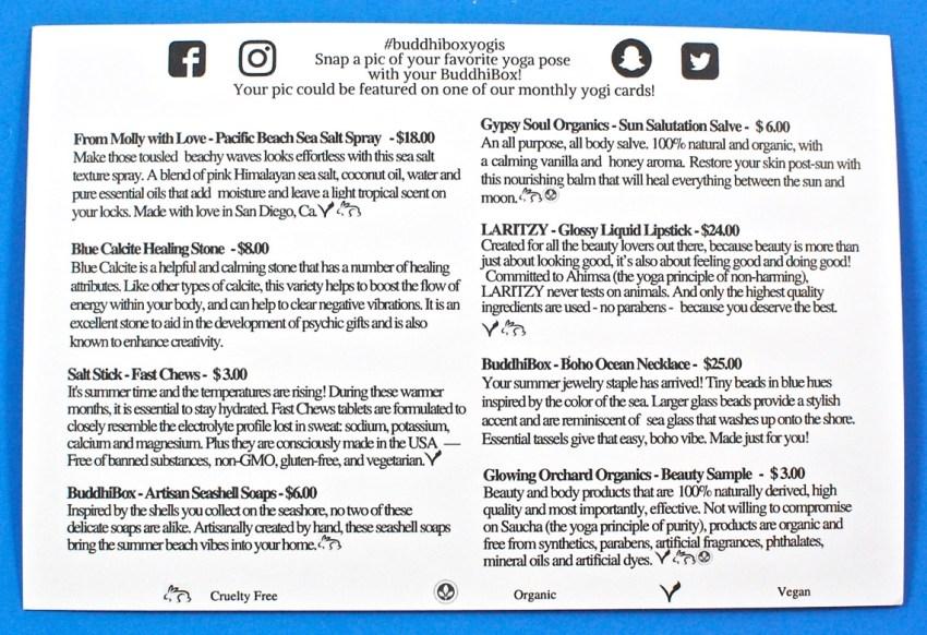 BuddhiBox July 2017 review