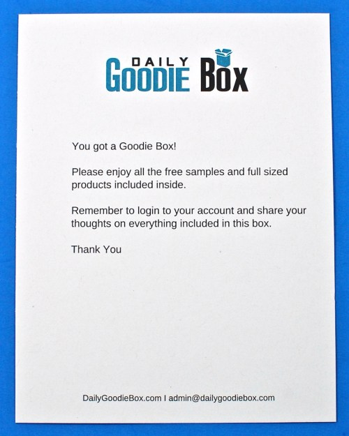 Daily Goodie Box contents