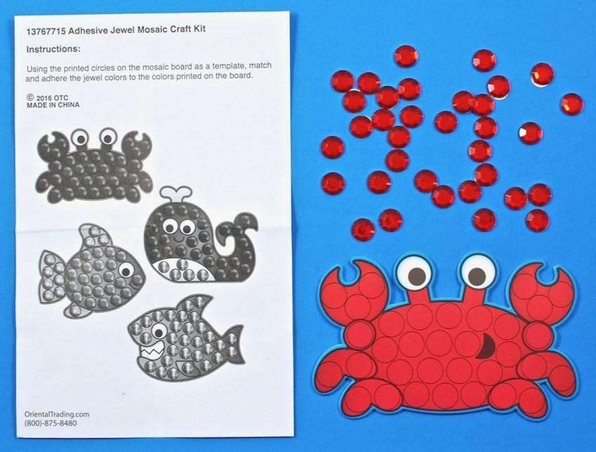 mosaic crab craft