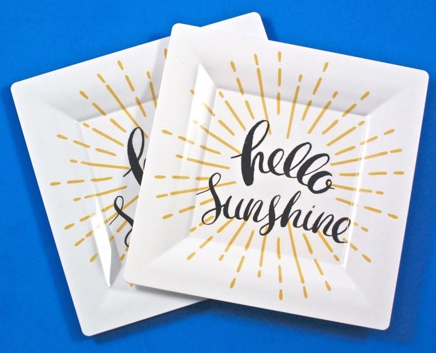 Hello Sunshine plates