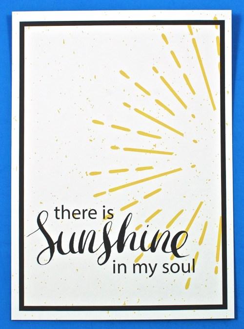 Sunshine in my soul print