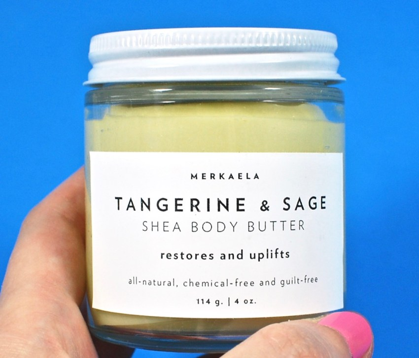 Tangerine & sage body butter