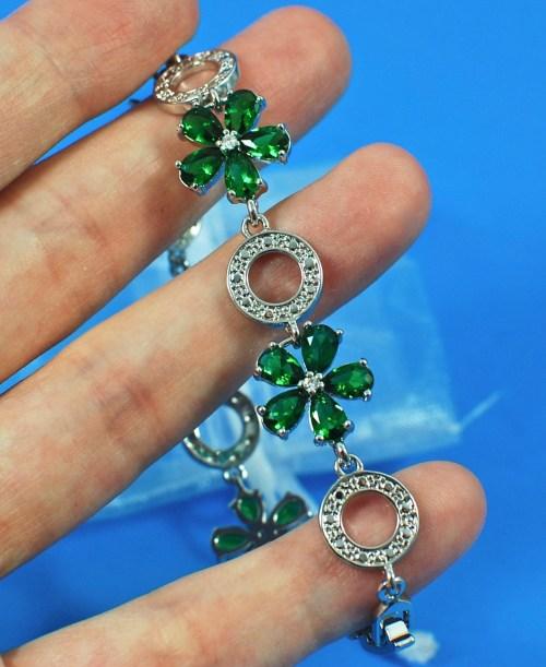 green silver bracelet