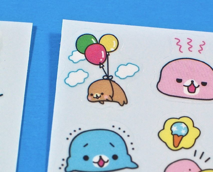 kawaii seal stickers