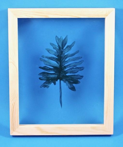 Leaf on Glass framed art