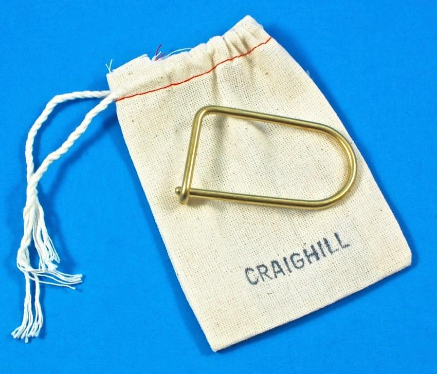 Craighill brass keyring