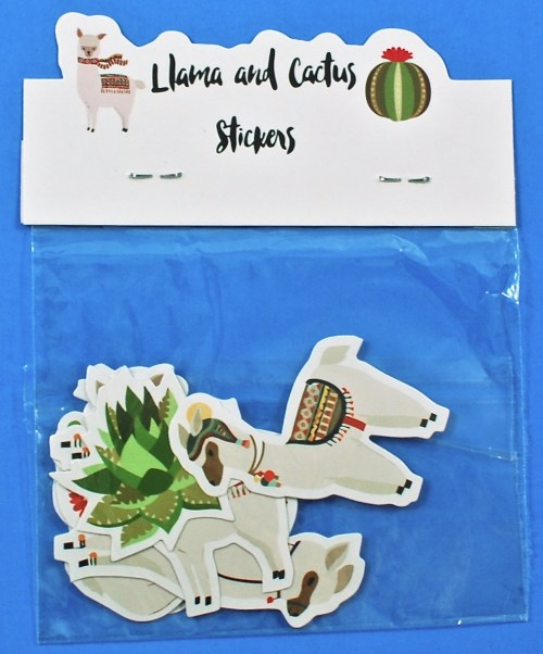 llamas and cacti stickers