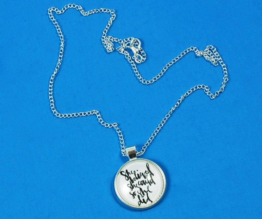 loved + blessed necklace