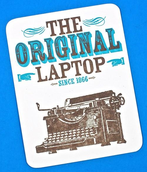 The Original Laptop postcard