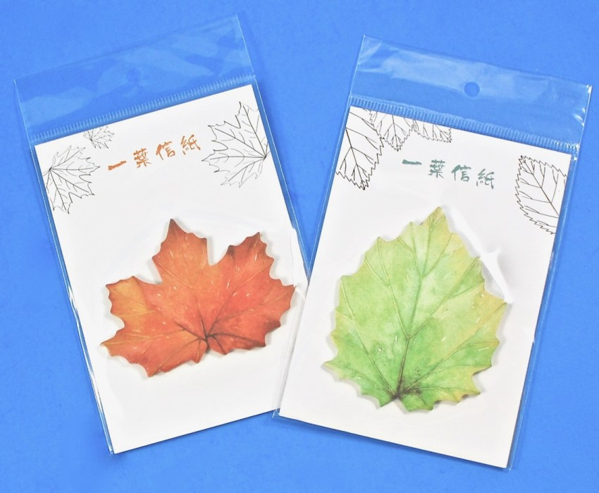 leaves sticky notes
