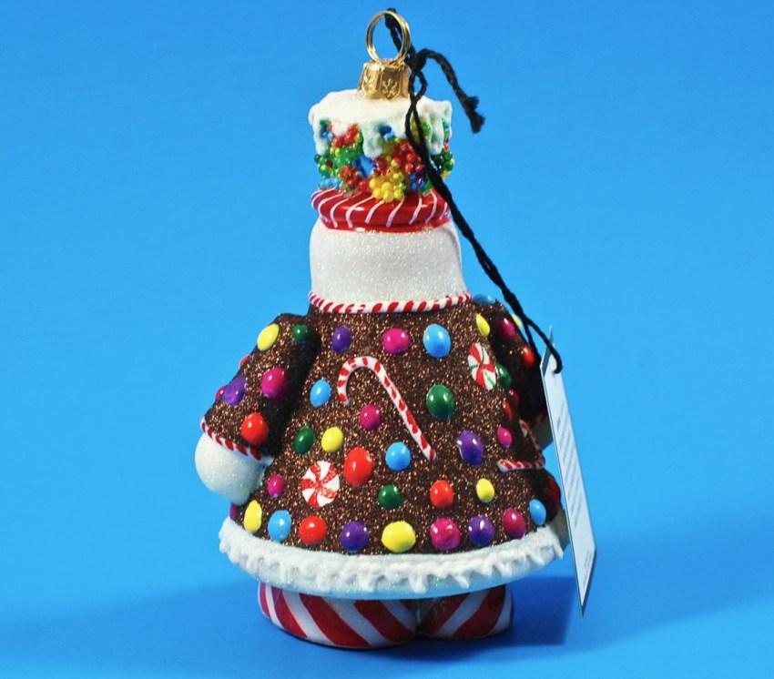 Glitter Joy to the World ornament snowman