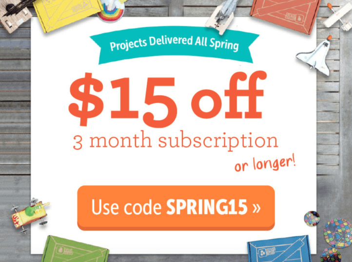 Kiwi Co. March 2018 Coupon Code – Save $15 on Pre-Paid Subscriptions