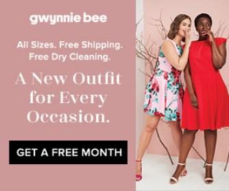 Gwynnie Bee free trial subscription