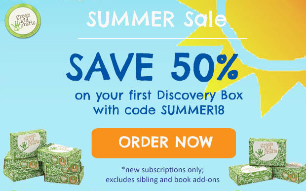 Green Kid Crafts Summer 2018 Coupon Code – 50% Off First Box!