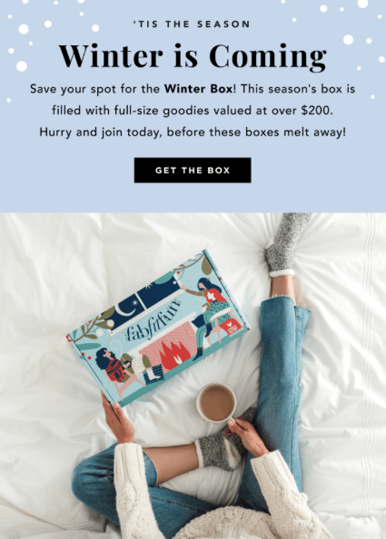 FabFitFun Winter 2018 coupon