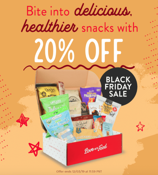 love with food black friday coupon 2019