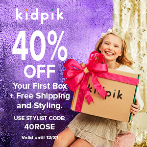 kidpik 40% off your first box with code 40ROSE