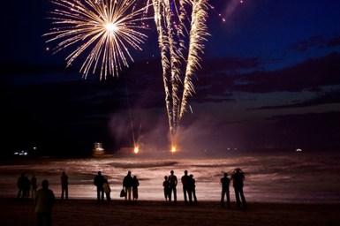 Fireworks on The Strand