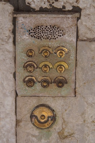 Door bells in Venice.