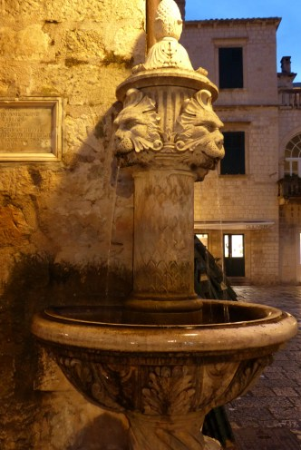 Fountain detail in Dubrovnik.