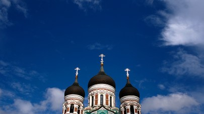 Russian Orthodox Alexander Nevsky Cathedral in Old Tallinn.