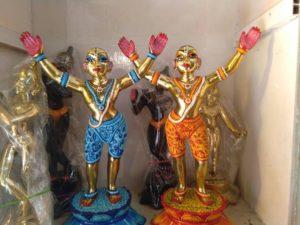 Gaura Nitai Metal Deities 12 inches