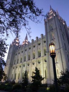 Temple at twilight
