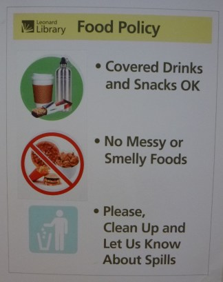 No Messy or Smelly Foods!!!