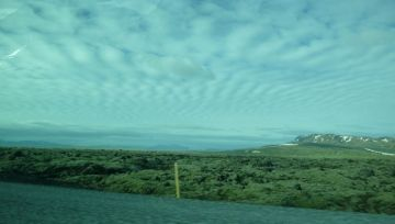 landscape (with tint from the car window)