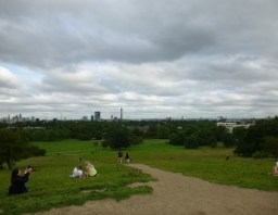 I realized as I was writing this post I don't really have any pictures of Primrose Hill - they are all pictures of the view from the hill.