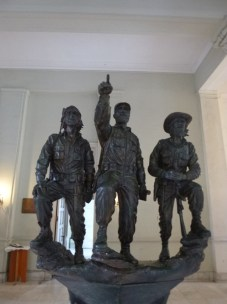 Statue at the Museum of the Revolution. Los Barbudos (the bearded ones) - Che, Fidel and Camilo Cienfuegos