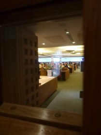 peeking inside one of the reading rooms