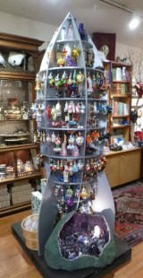 this ornament display was a rocket ship too!
